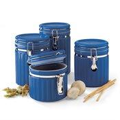 Mayfair & Jackson 4-piece Blue Canister Set