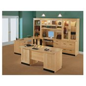 Sauder OfficePort Collection Executive Desk, Maple