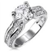 Sterling Silver 925 Round Cubic Zirconia CZ Ring - Size 5 Wedding Engagement Ring Jewelry